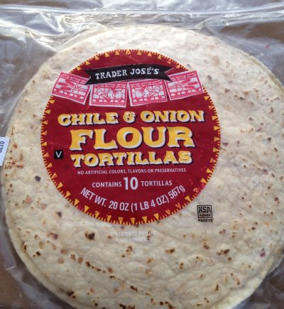 Chile and Onion Flour Tortillas