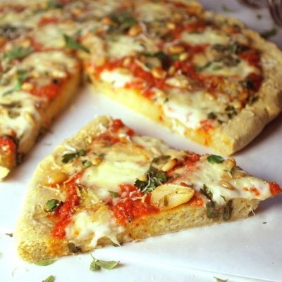 Corn Meal Pizza Crusts