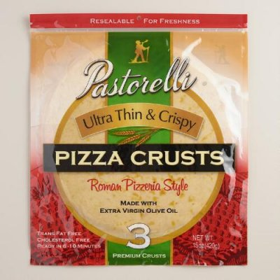 Ultra Thin 2 Pizza Crusts
