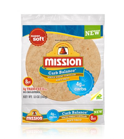 Whole Wheat Tortillas, Carb Balance