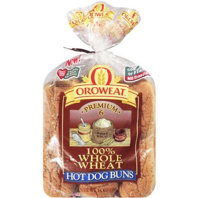 100% Whole Wheat Hot Dog Buns