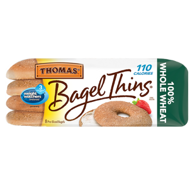 Bagels, 100% Whole Wheat