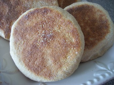 English Muffins, 100% Whole Wheat, Fork Split