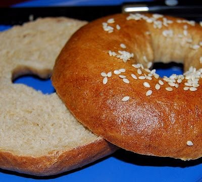 Whole Wheat Bagels Sliced