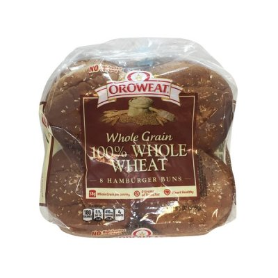 Whole Wheat Hamburger Buns - 100% Stone Ground Whole Wheat
