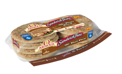 100% Whole Wheat Thin Rounds Sliced Rolls