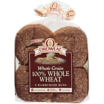 8 Whole Grain Wheat Hamburg Rolls