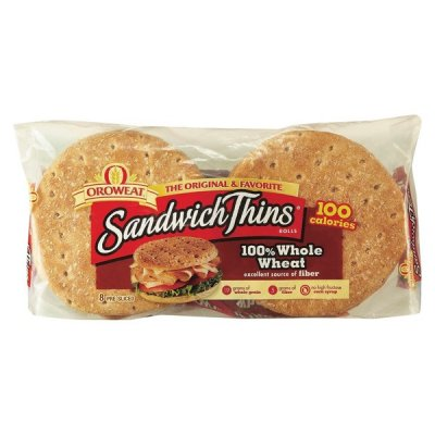 Buns, Slim, Pre-Sliced, 100% Whole Wheat