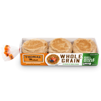 English Muffins, 100% Whole Wheat
