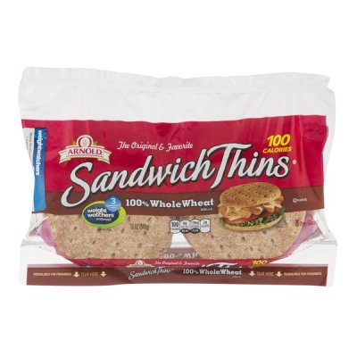 Arnold Sandwich Rolls,Whole Grains 100% Whole Wheat 8 Ct