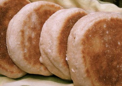 Extra Sour Sourdough English Muffins