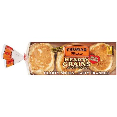 Hearty English Muffins 100% Whole Wheat