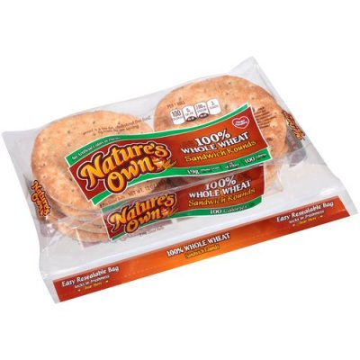 100% Whole Wheat Sandwich Rounds