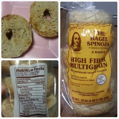 The Bagel Spinoza, High Fiber Multigrain, 6 Bagels