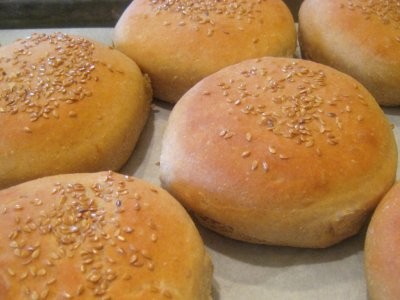 Wheat Hamburger Rolls