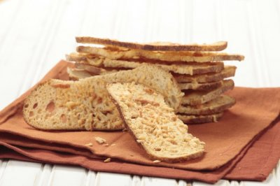 Garlic & Asiago Cheese Sourdough Crisps