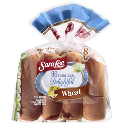 Reduced Calorie Wheat Hot Dog Rolls