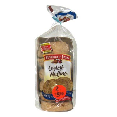 English Muffins, Wheat Pre-Sliced 6 Ct