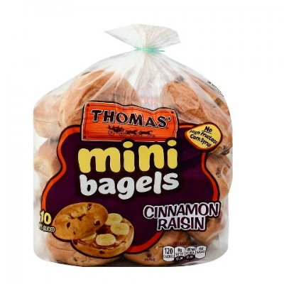 Bagels, Mini, Cinnamon Raisin, Pre-Sliced