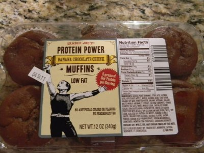 Protein Power Muffins - Banana Chocolate Chunk